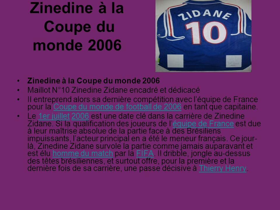 Zinedine à la Coupe du monde 2006