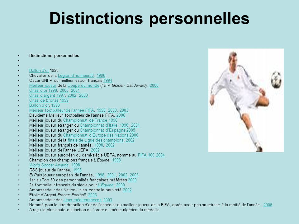 Distinctions personnelles