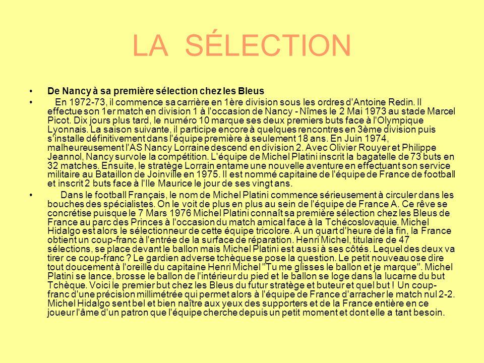 LA SÉLECTION De Nancy à sa première sélection chez les Bleus