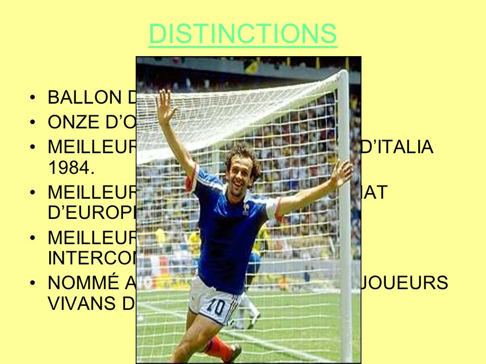 DISTINCTIONS BALLON D'OR.1983,1984 ET 1985.