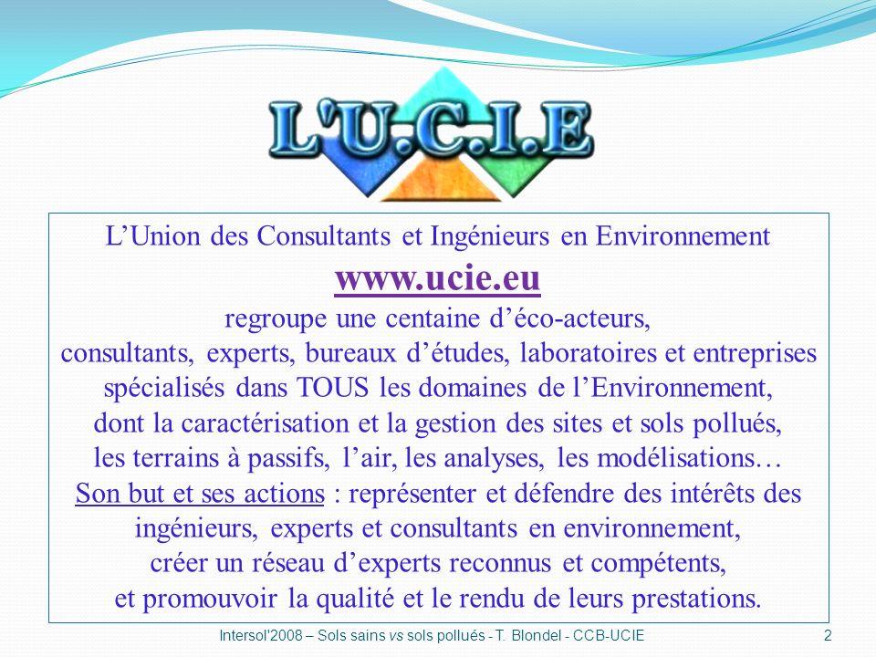 www.ucie.eu L'Union des Consultants et Ingénieurs en Environnement