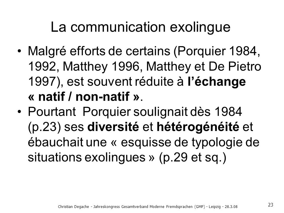 La communication exolingue