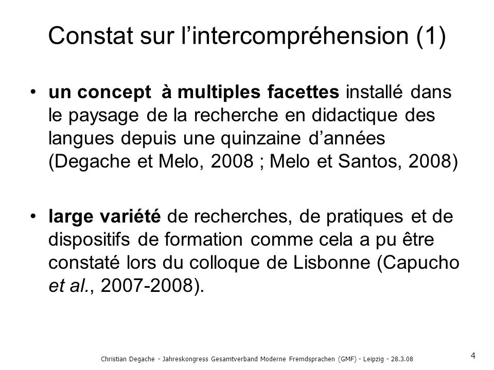 Constat sur l'intercompréhension (1)