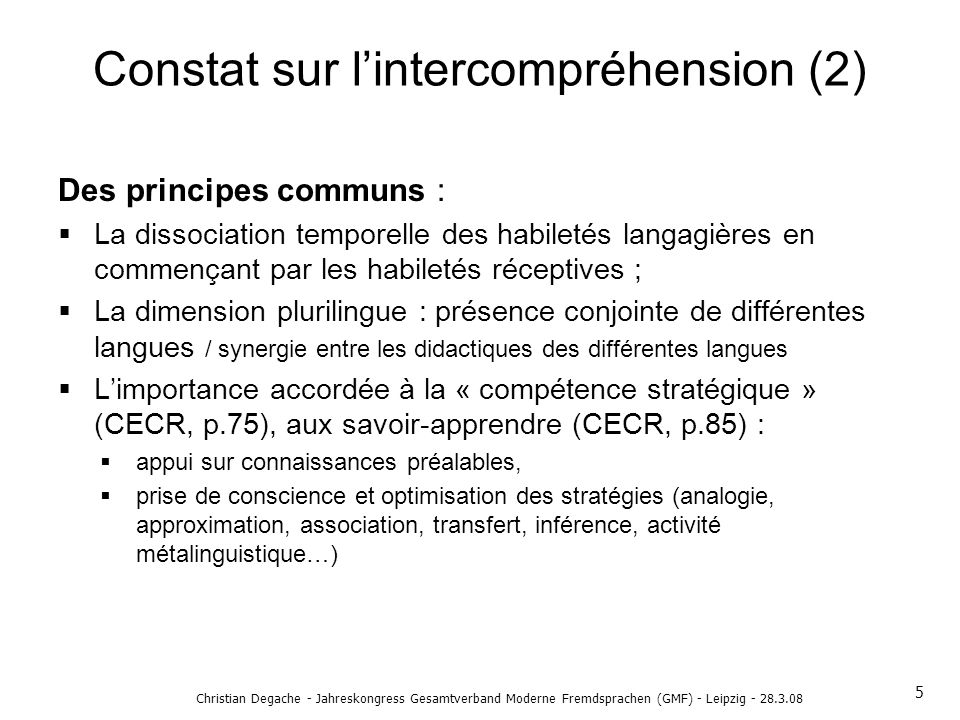 Constat sur l'intercompréhension (2)