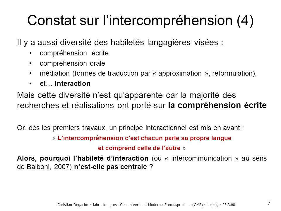 Constat sur l'intercompréhension (4)