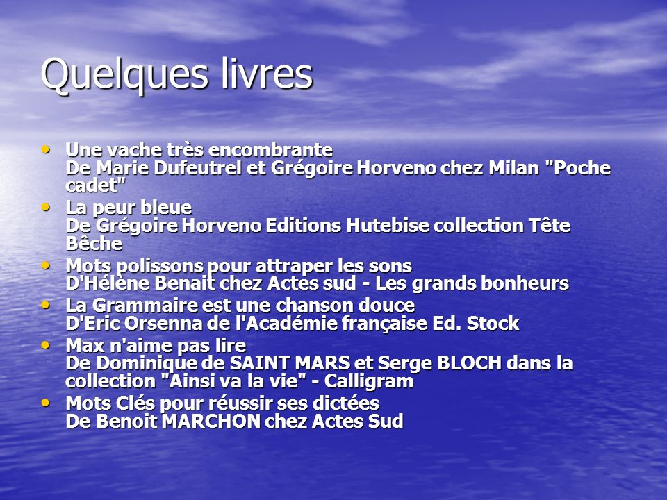 Quelques livres Une vache très encombrante De Marie Dufeutrel et Grégoire Horveno chez Milan Poche cadet