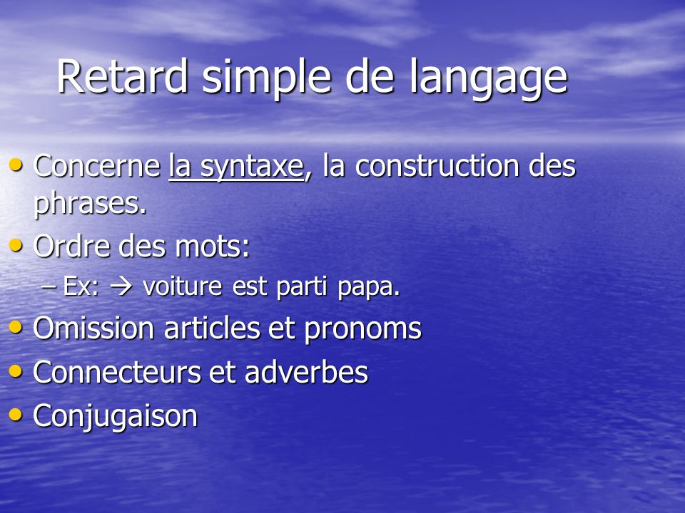 Retard simple de langage