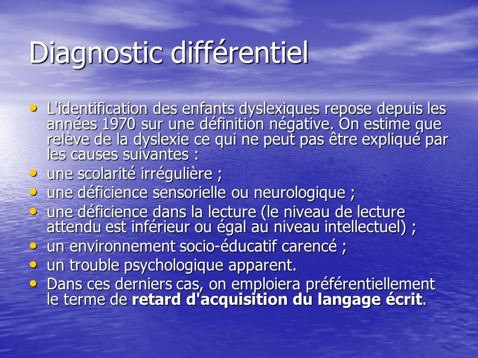 Diagnostic différentiel