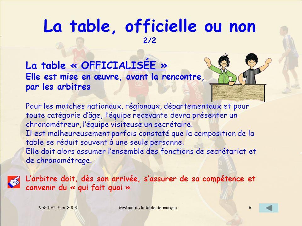 La table, officielle ou non 2/2