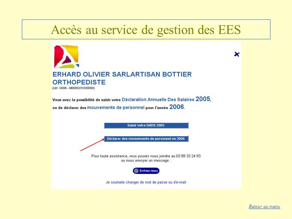 Accès au service de gestion des EES