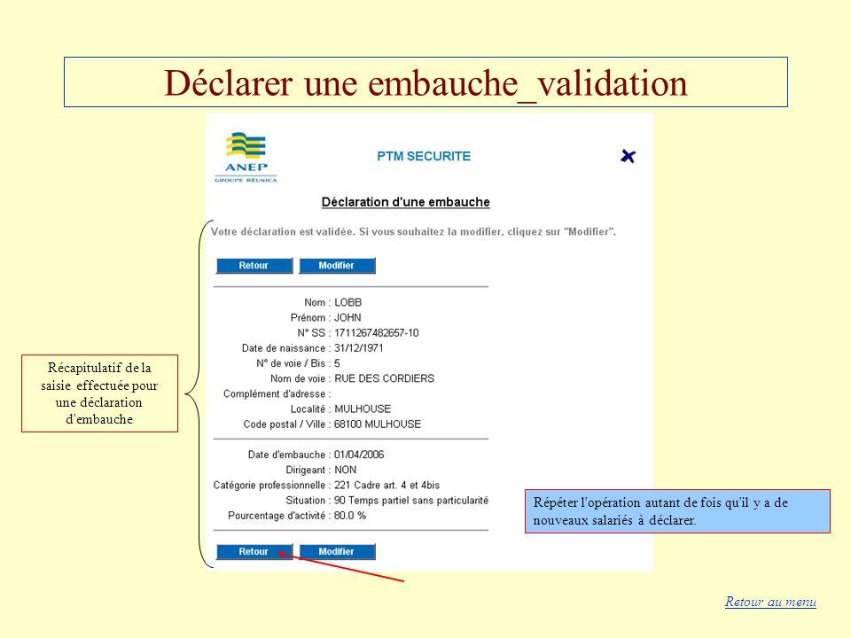 Déclarer une embauche_validation