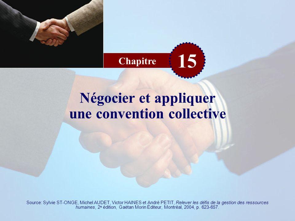 Négocier et appliquer une convention collective