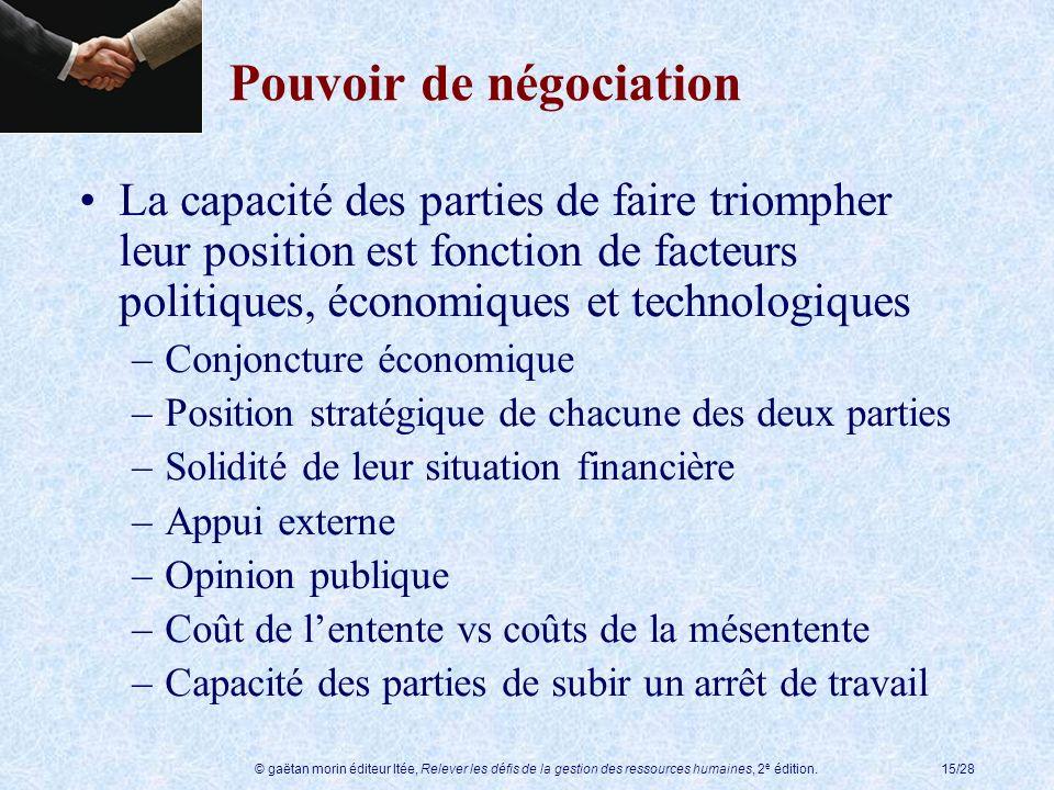Pouvoir de négociation