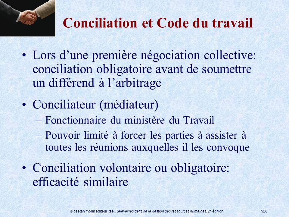 Conciliation et Code du travail