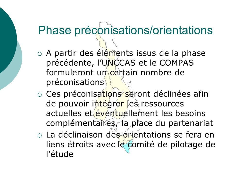 Phase préconisations/orientations