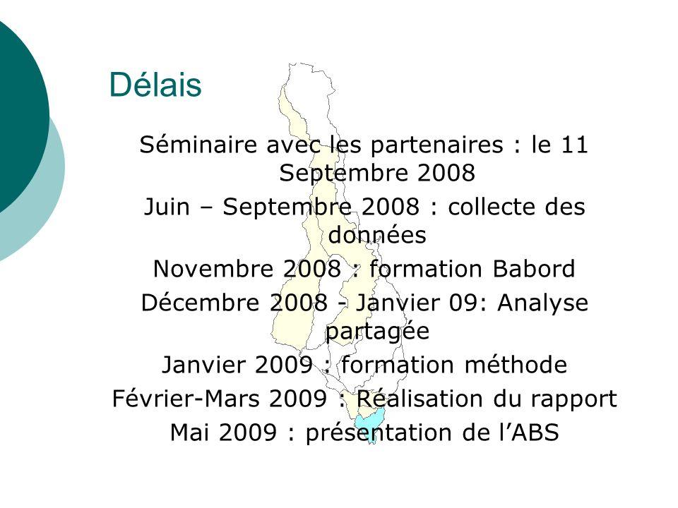Délais Séminaire avec les partenaires : le 11 Septembre 2008