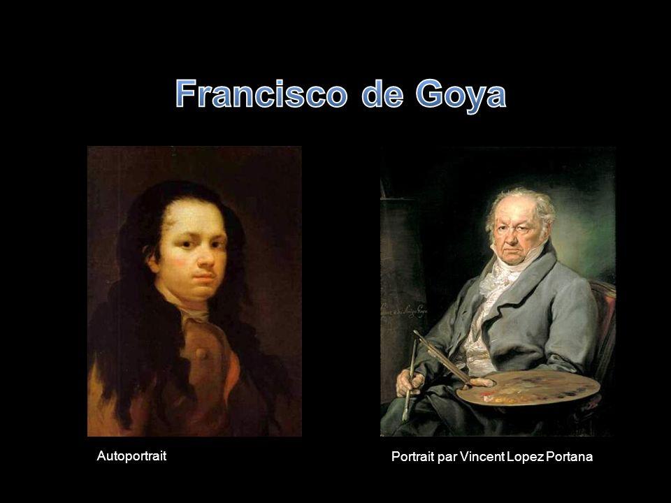Francisco de Goya Autoportrait Portrait par Vincent Lopez Portana