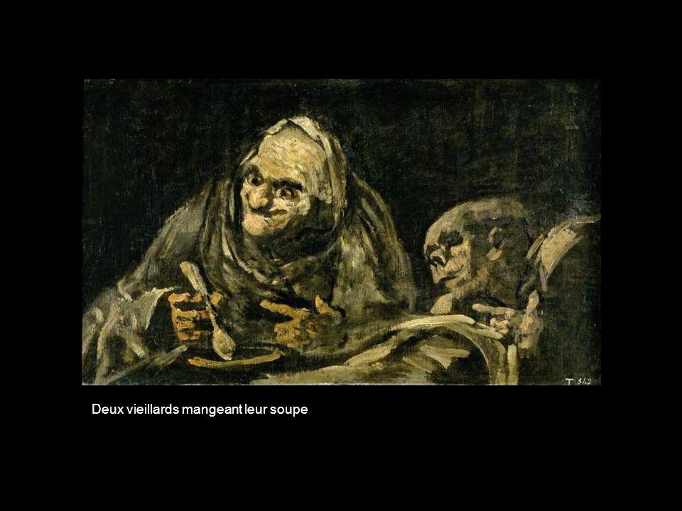 Deux vieillards mangeant leur soupe
