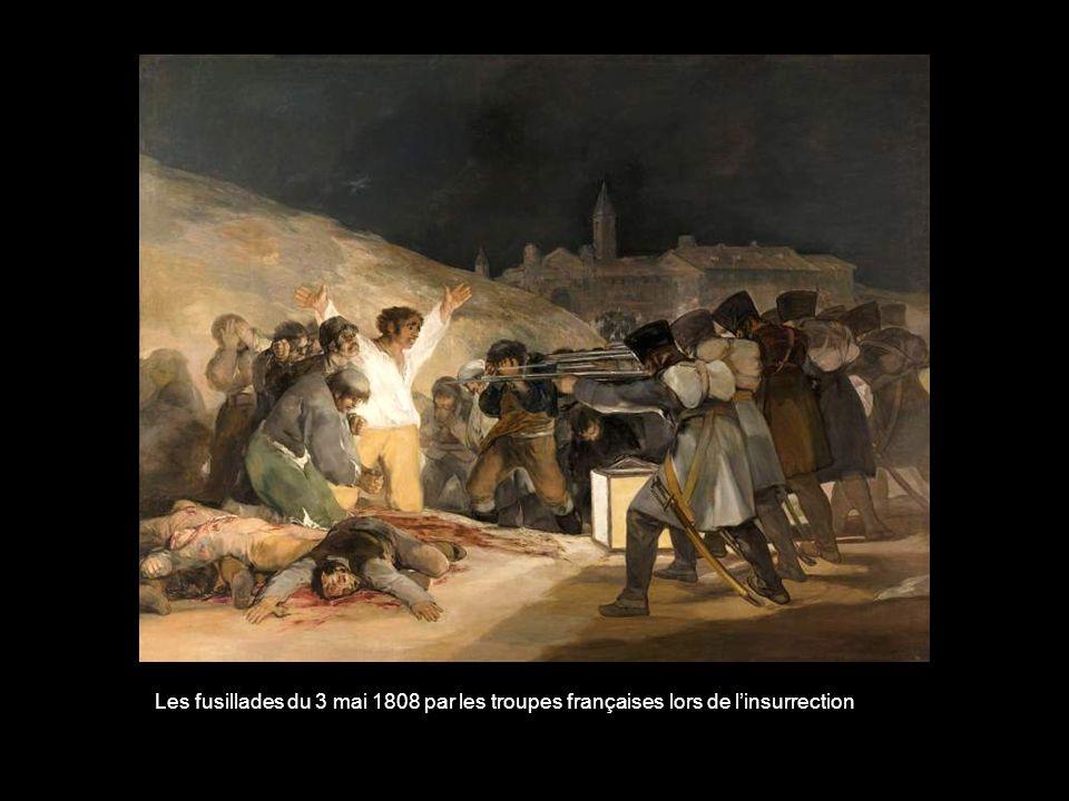 Les fusillades du 3 mai 1808 par les troupes françaises lors de l'insurrection