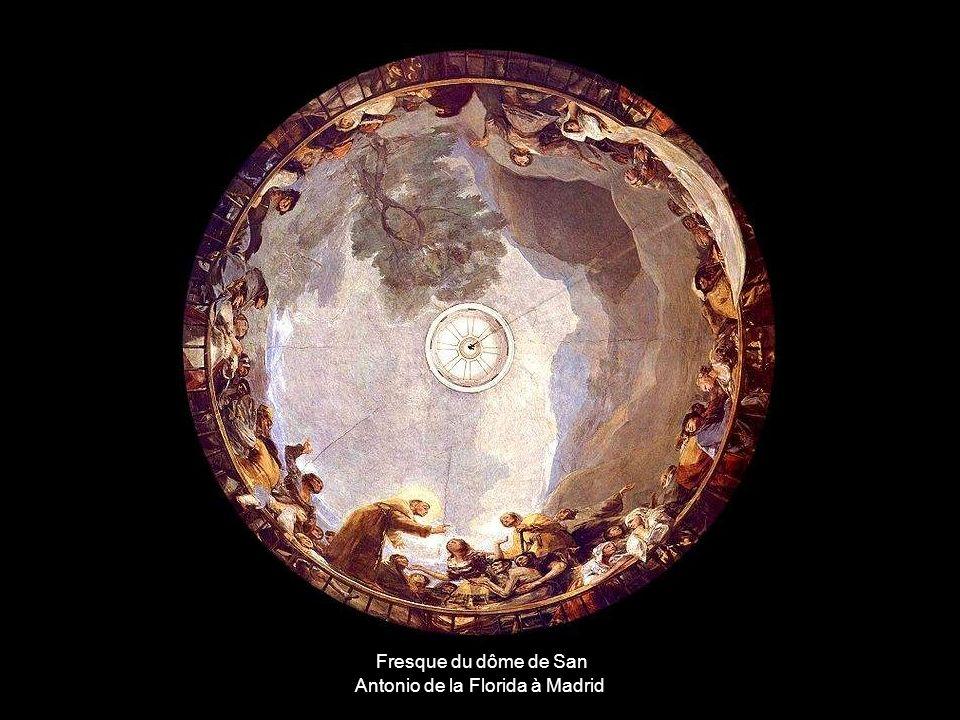 Fresque du dôme de San Antonio de la Florida à Madrid