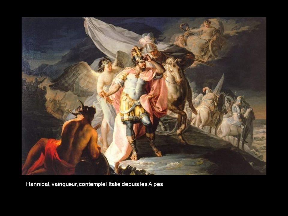 Hannibal, vainqueur, contemple l'Italie depuis les Alpes