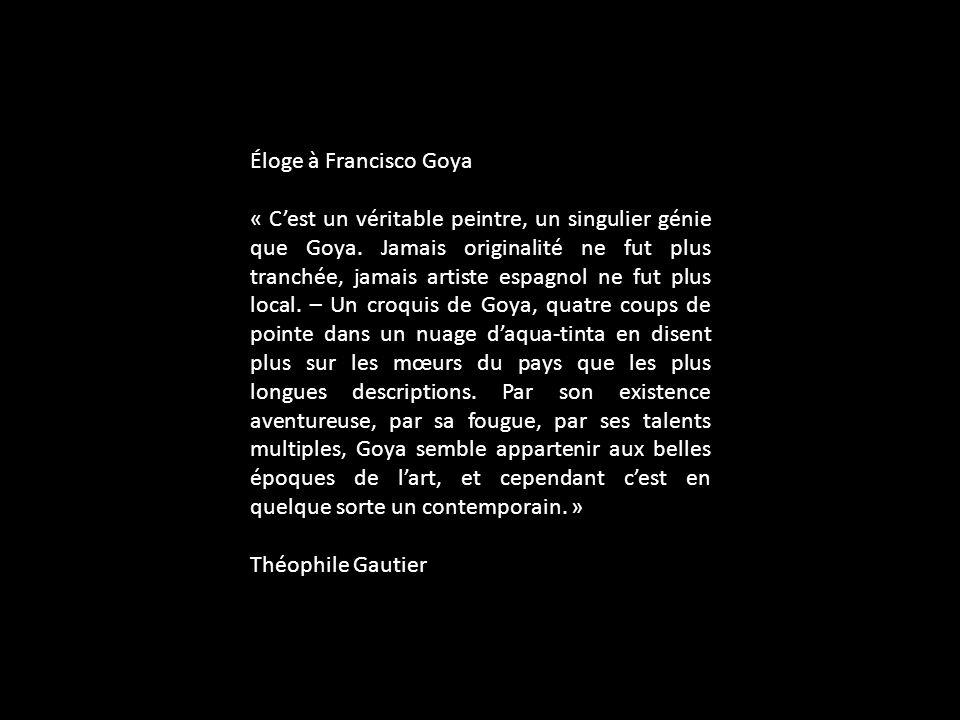 Éloge à Francisco Goya