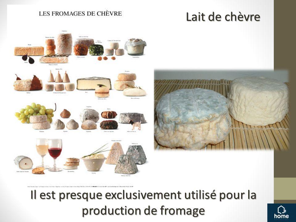 Il est presque exclusivement utilisé pour la production de fromage