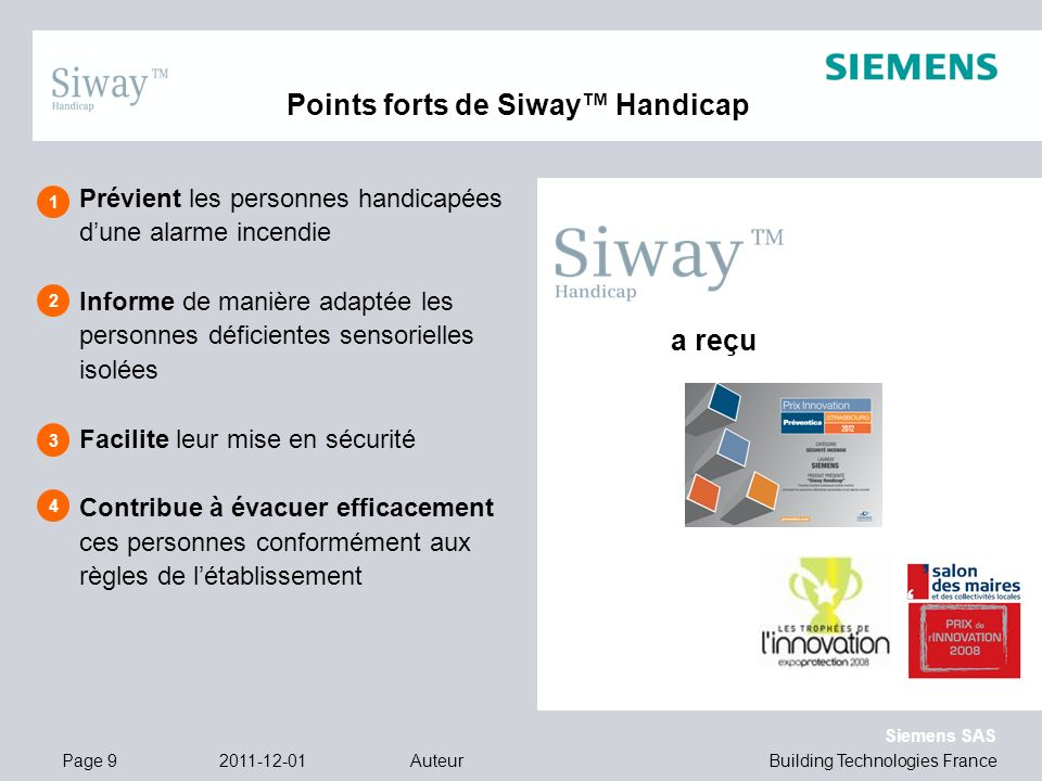 Points forts de Siway™ Handicap
