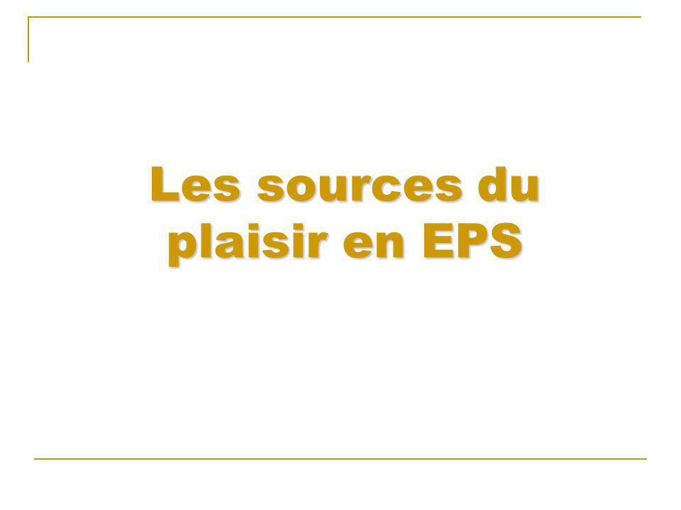 Les sources du plaisir en EPS