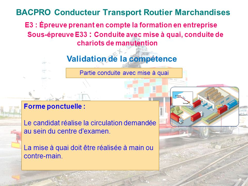 BACPRO Conducteur Transport Routier Marchandises