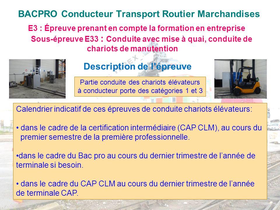 BACPRO Conducteur Transport Routier Marchandises