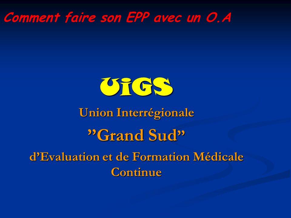 d'Evaluation et de Formation Médicale Continue