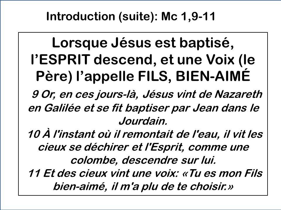 Introduction (suite): Mc 1,9-11