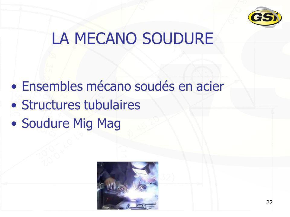 LA MECANO SOUDURE Ensembles mécano soudés en acier