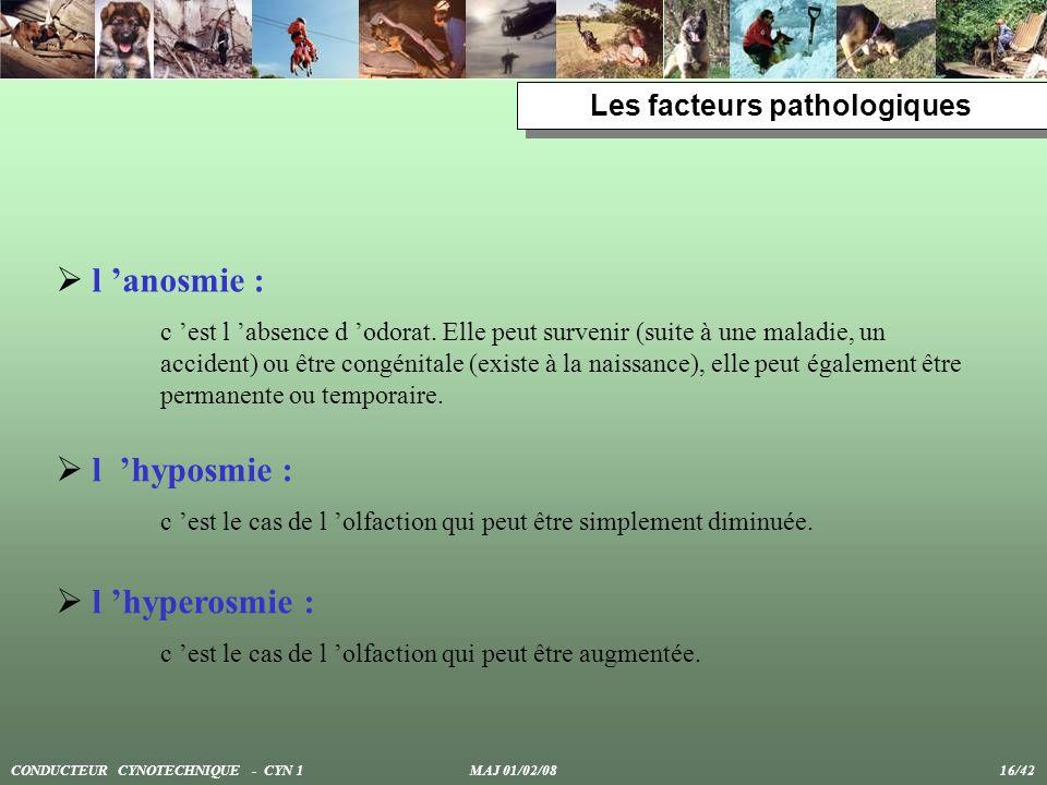 Les facteurs pathologiques