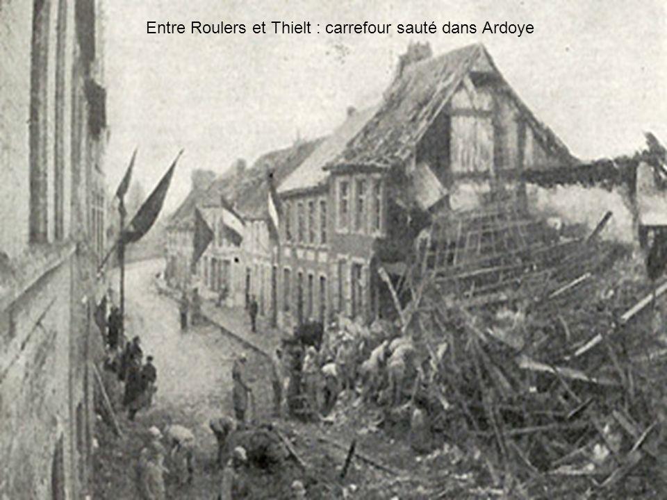 Entre Roulers et Thielt : carrefour sauté dans Ardoye