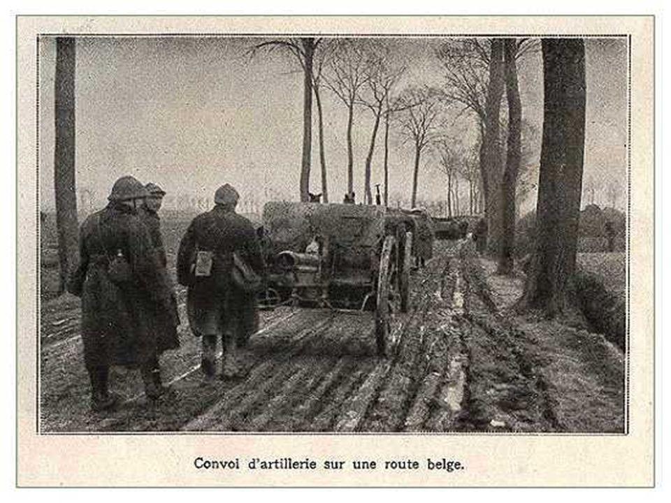 Au cours de la période qui sépare la fin de la guerre de mouvement en 1914, la guerre de position ponctuée par les assauts au gaz allemands sur l Yser, au cours de l année 1915, et sa participation aux côtés des Anglo-Français à la deuxième bataille des Flandres entre les mois de juillet et d octobre 1917, l armée belge emmenée par Sa Majesté Albert Ier, le Roi Soldat , ne cesse de poursuivre la lutte.