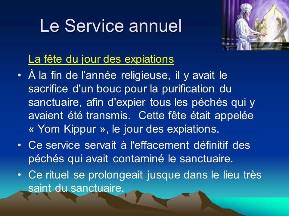 Le Service annuel La fête du jour des expiations