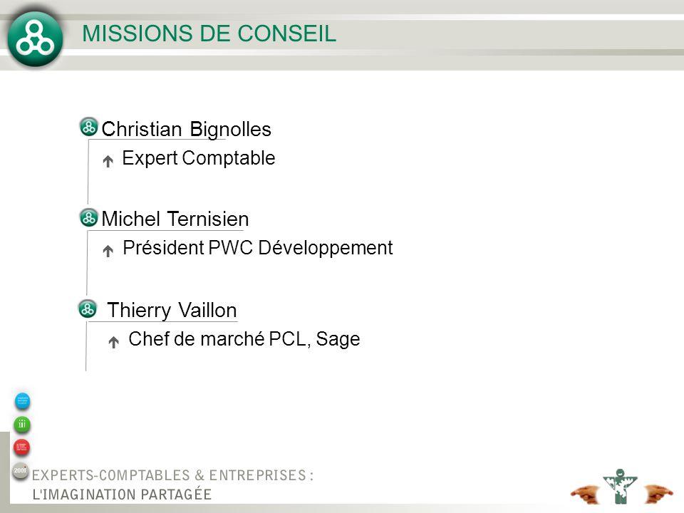 MISSIONS DE CONSEIL Christian Bignolles Michel Ternisien