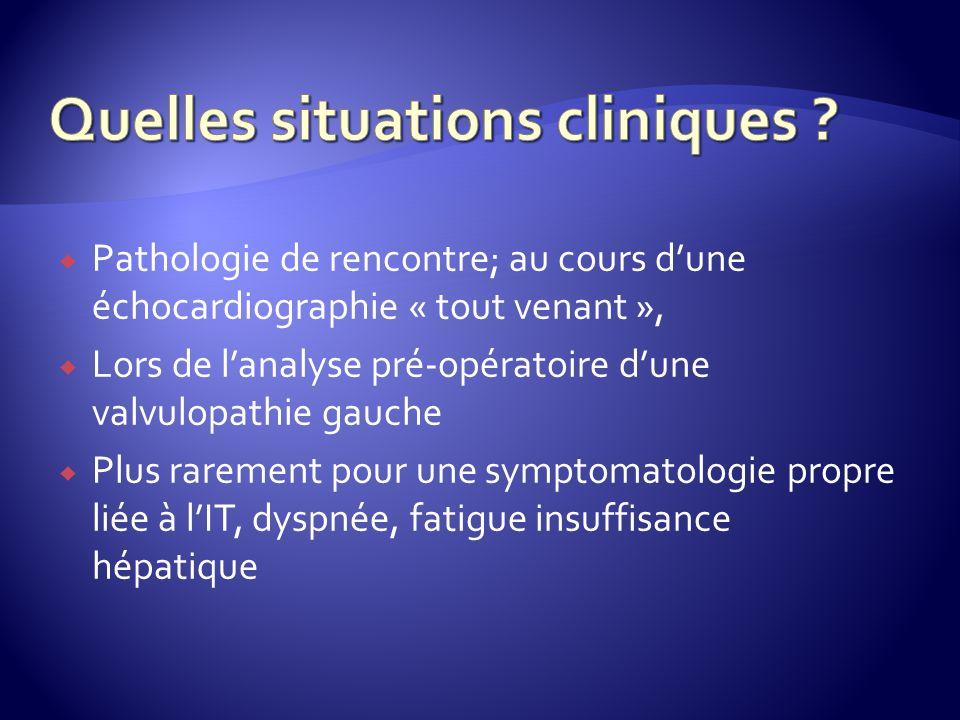 Quelles situations cliniques