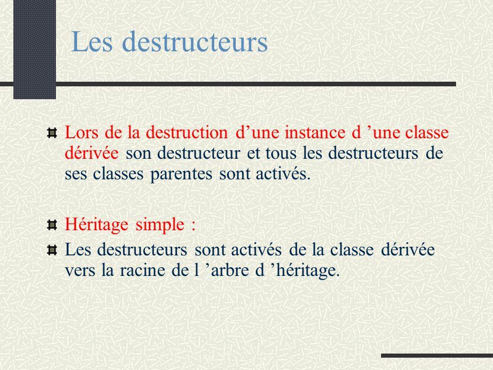 Les destructeurs