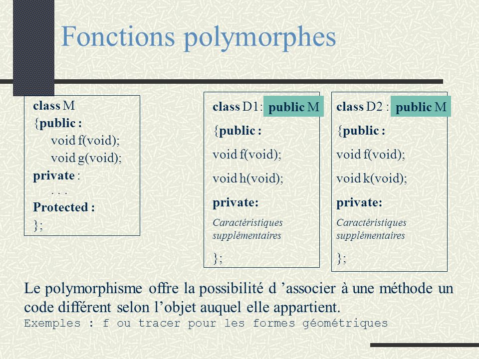 Fonctions polymorphes