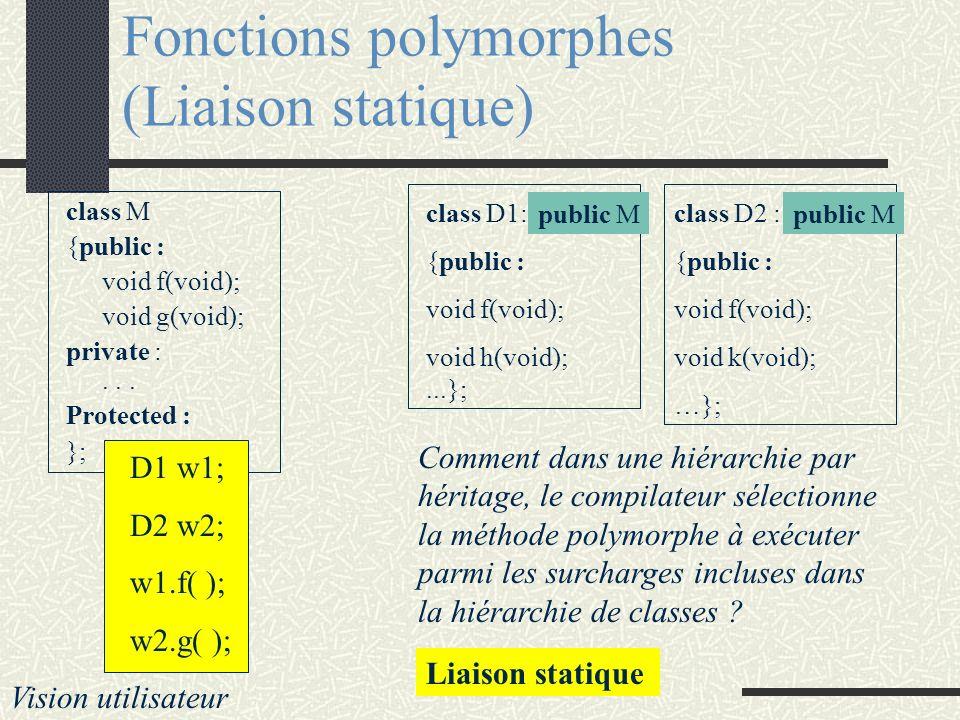 Fonctions polymorphes (Liaison statique)