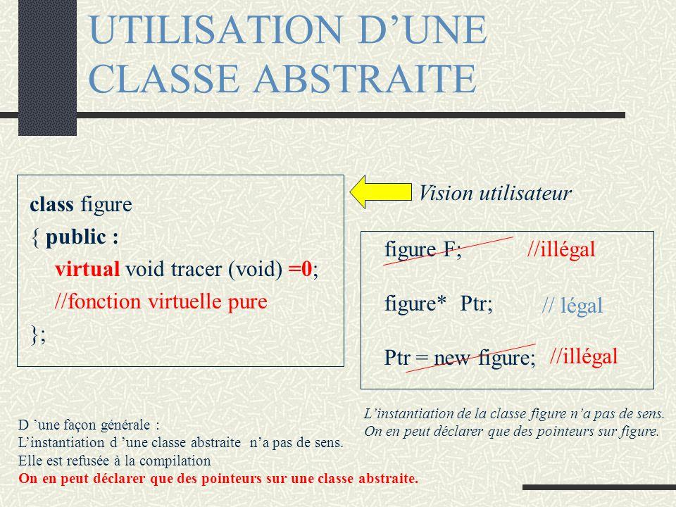 UTILISATION D'UNE CLASSE ABSTRAITE