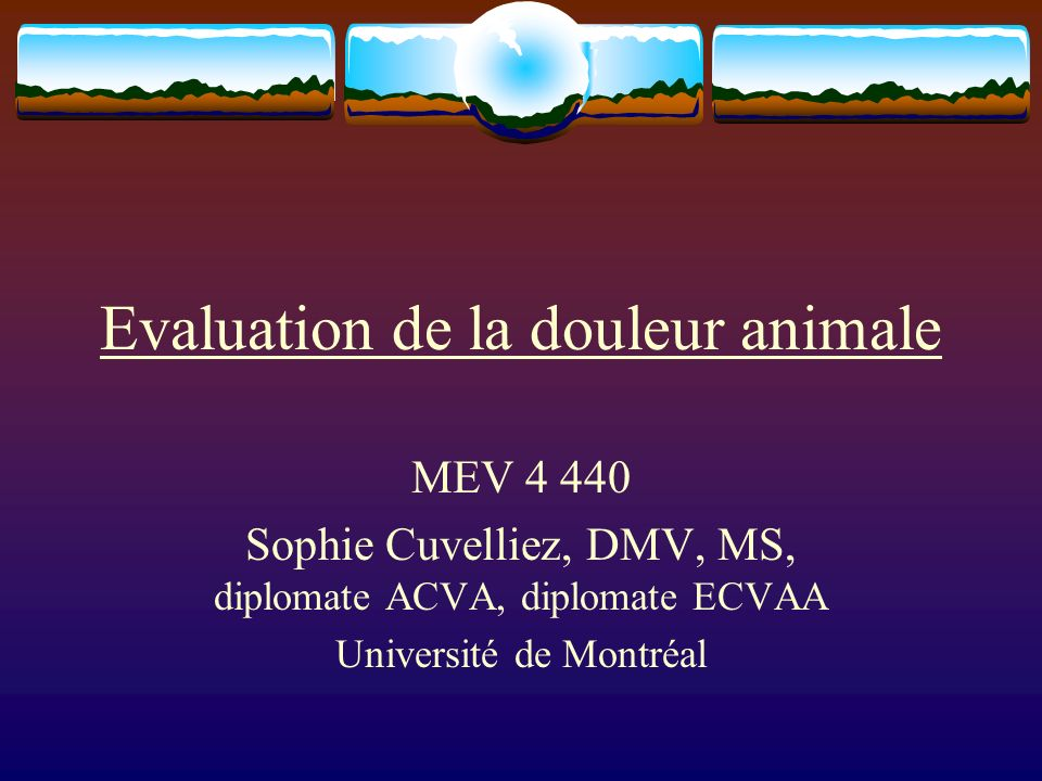 Evaluation de la douleur animale