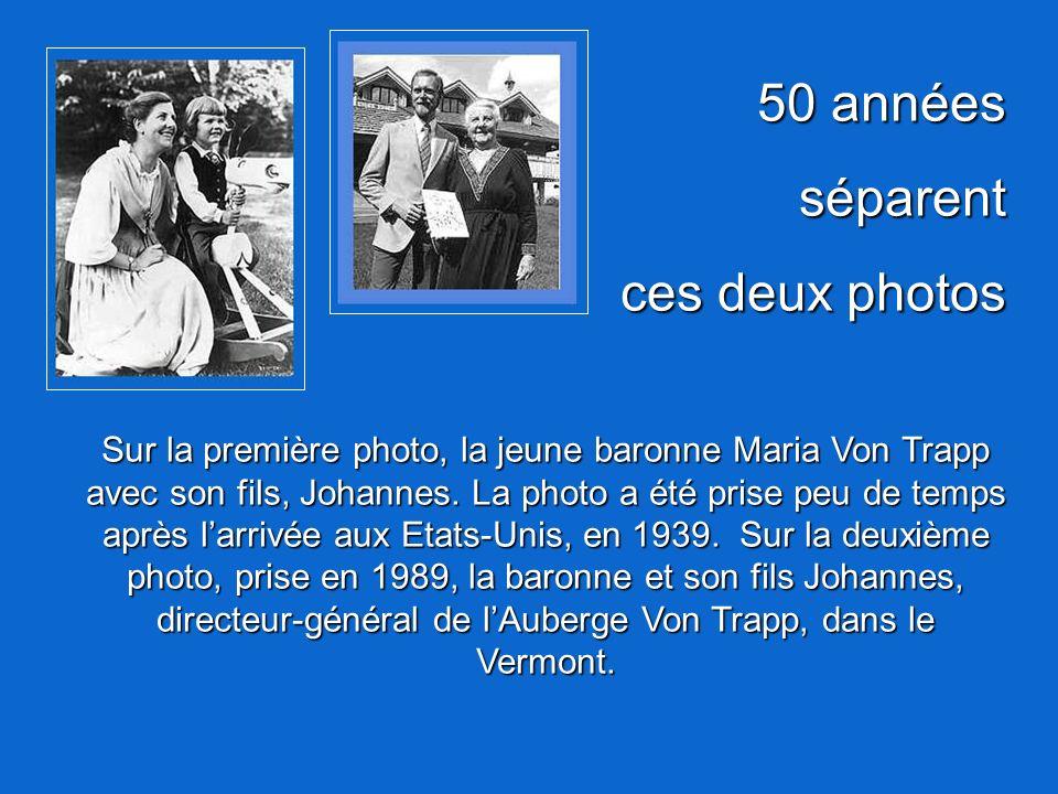 50 années séparent ces deux photos
