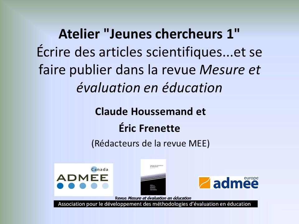Claude Houssemand et Éric Frenette (Rédacteurs de la revue MEE)