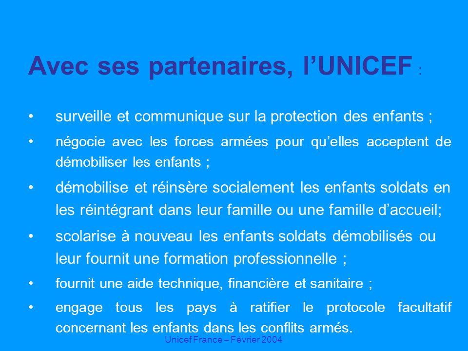 Avec ses partenaires, l'UNICEF :
