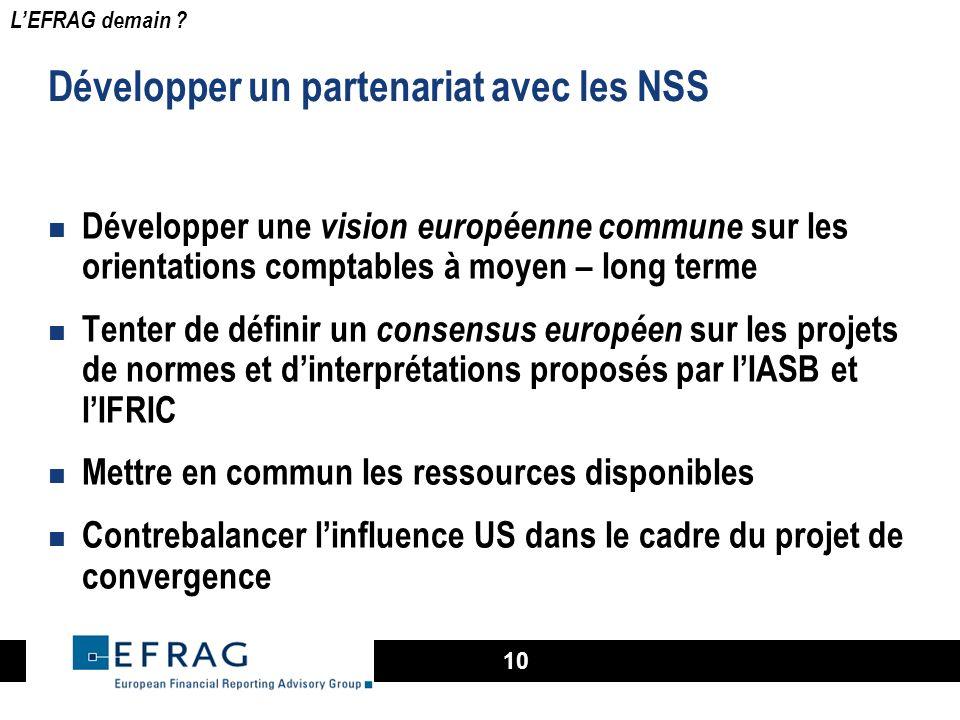 Développer un partenariat avec les NSS