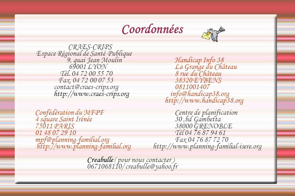Coordonnées CRAES-CRIPS Espace Régional de Santé Publique
